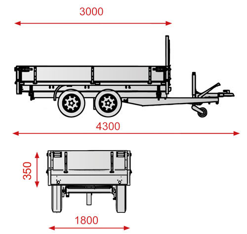 Three Way Tipper Trailer
