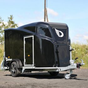 Cargo Trailer 1300, Front Side View, Black
