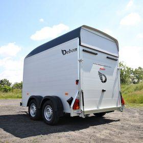 box van trailer rear side view all secure shut