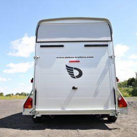 box van trailer rear view all secure shut