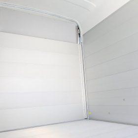 box van trailer interior view
