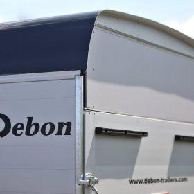 box van trailer with rear door secure shut