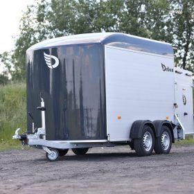 dual axle box trailer black nose cone