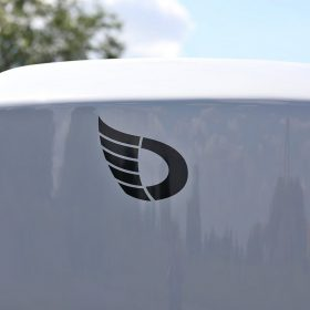 Debon box trailer white
