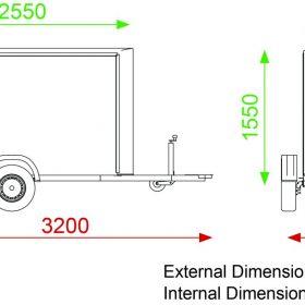Box trailer dimensions C255