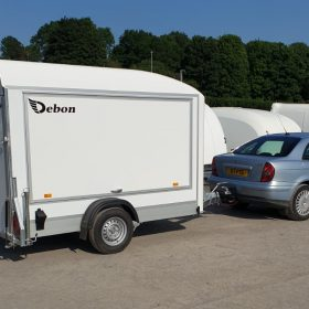Side Opening Box Van Trailer - single axle