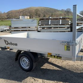 Single axle rear tipper trailer - electric tipping
