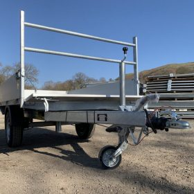 tipper trailer front side down