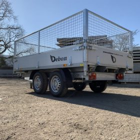 Electric tipper trailer, Dual axle 3 way tipping