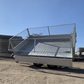 dual axle, 3 way tipping trailer, side tipper