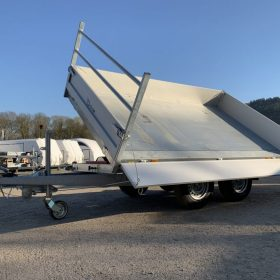 tipper trailer, double axle tipping trailer, side tipping