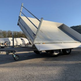 Double Axle tipper trailer, 3 way tipping trailer
